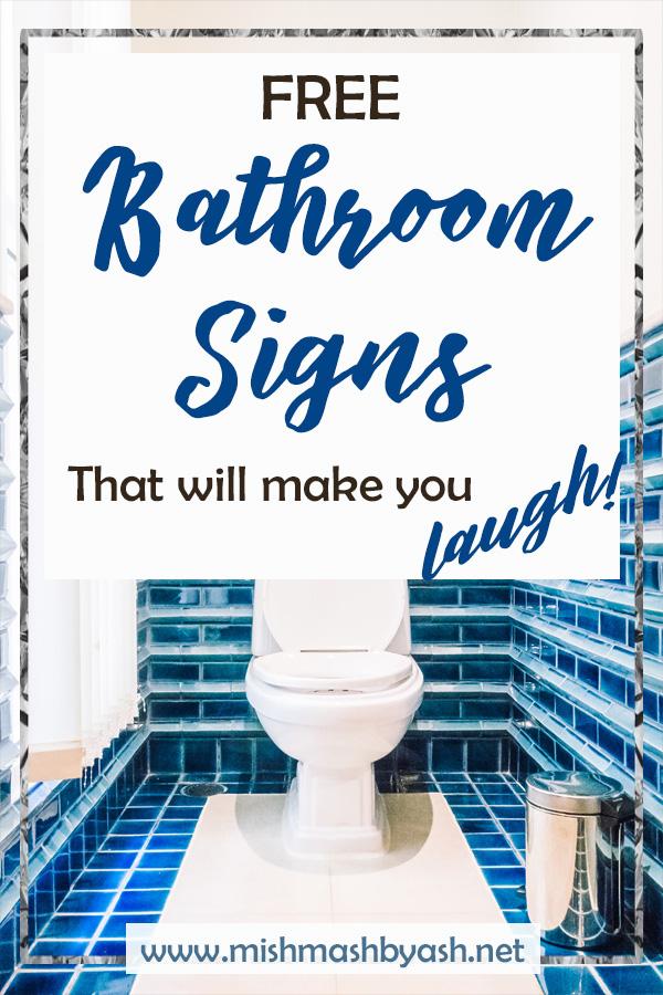 Free Set Of 4 Bathroom Prints Mishmash By Ash Graphic Design