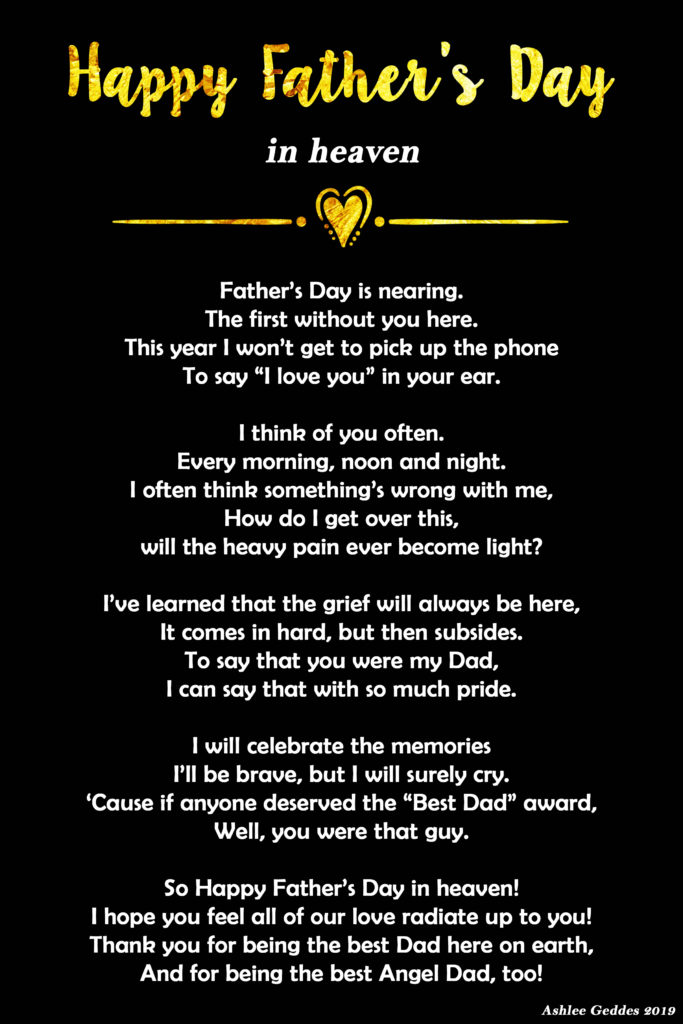 Father's Day in Heaven Poem - MishMash by Ash graphic design