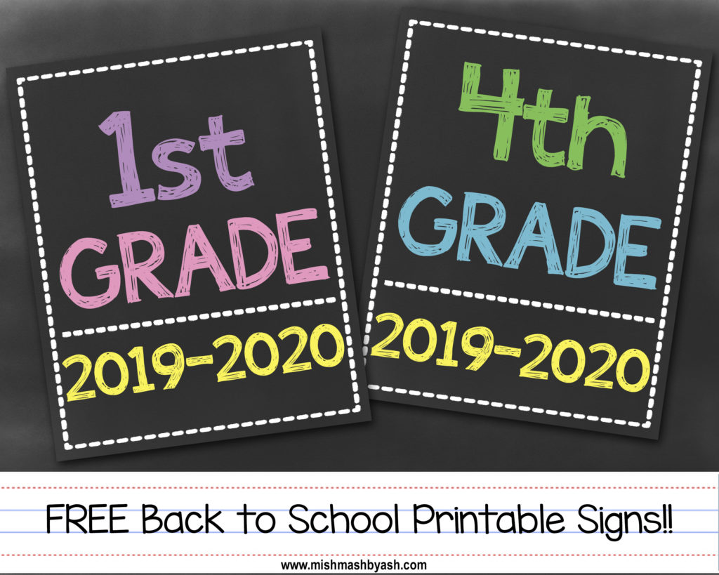photo about Free Printable Back to School Signs referred to as No cost Again in direction of Higher education Signs and symptoms - MishMash through Ash image style